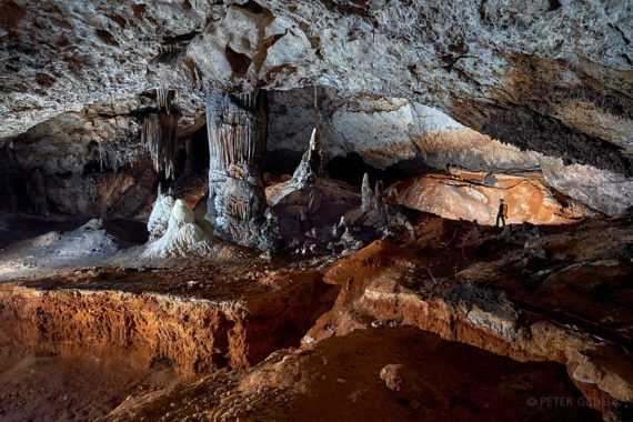 Dvorana v jami Slaughter Canyon Cave . Foto: Peter Gedei