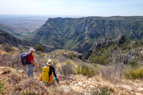 Čudovit pogled na enega izmed kanjonov v pogorju Guadalupe. Fotot: Peter Gedei