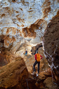 Rovi v sadri jame Virgin Cave. Foto: Peter Gedei